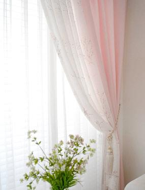 스와레 핑크 커튼디자인누비