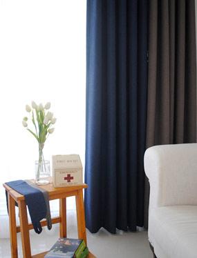 팬톤 암막커튼 (네이비&브라운)디자인누비