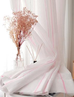비올라 핑크 커튼디자인누비
