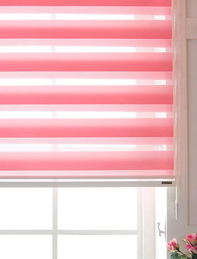 유로피언 콤비블라인드-핑크디자인누비