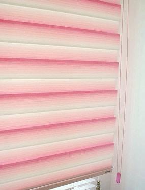 샤벳 콤비블라인드 - 핑크디자인누비