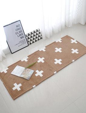 크로스 발매트&러그-브라운 (5size)디자인누비